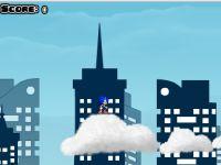 Sonic auf Wolken