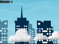 Sonic auf den Wolken